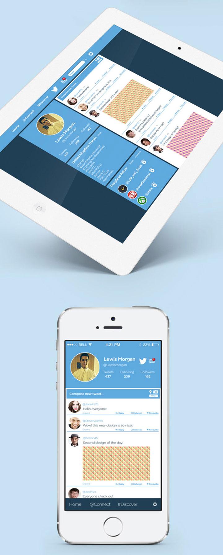 Twitter tasarım konsepti - Lewis Morgan