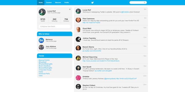 Twitter tasarım konsepti - Lucas Reif