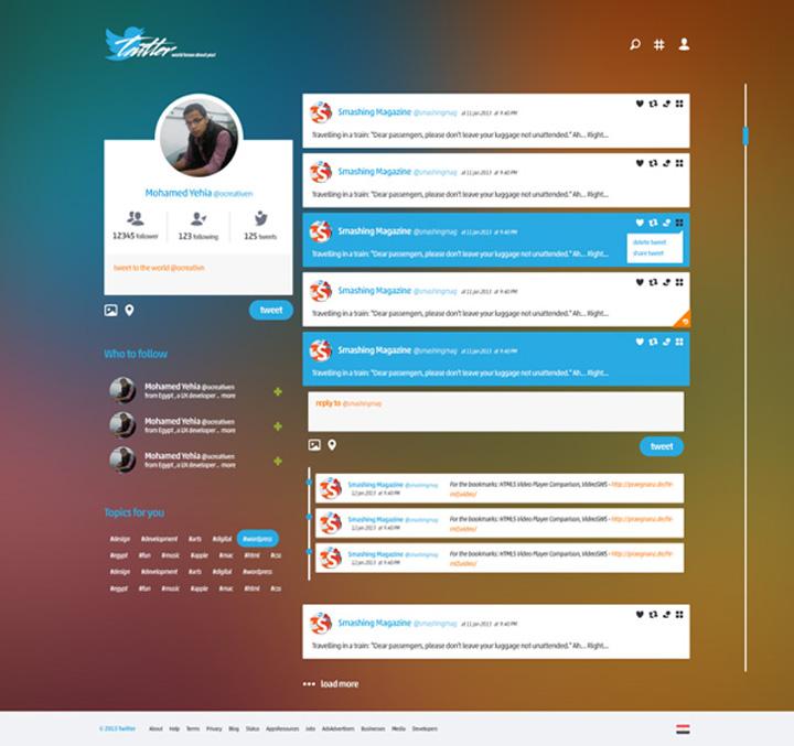 Twitter tasarım konsepti - Mohamed Yahia