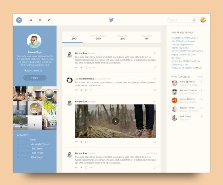 Twitter tasarım konsepti - Ramil (Bluroon)