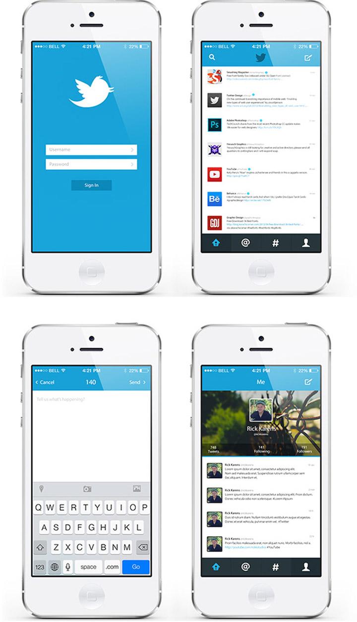 Twitter tasarım konsepti - Rick Karens