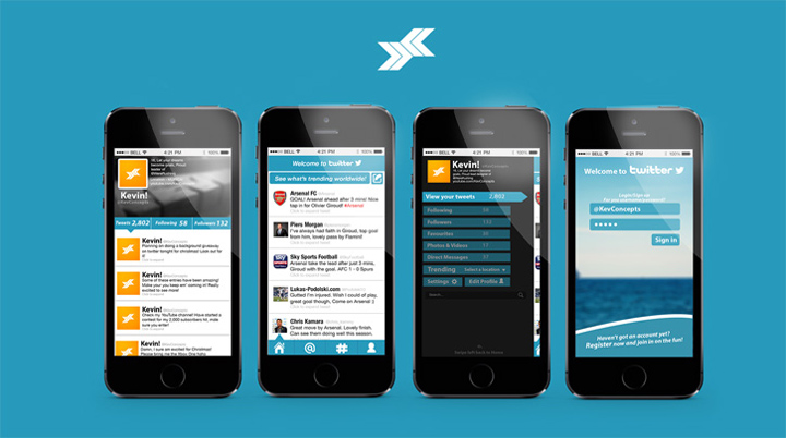 Twitter tasarım konsepti - Sam Girling