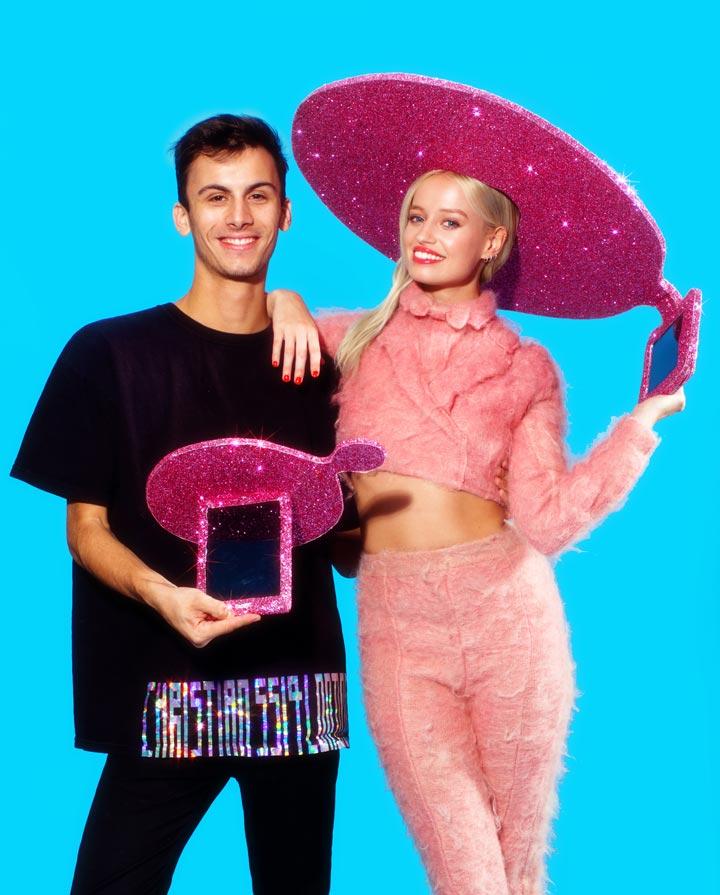 Tasarımcı Christian Cowan-Sanluis (solda)