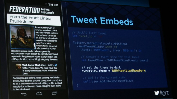 Fabric - Tweet Embeds