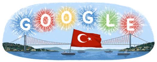 Google Cumhuriyet Bayramı doodle