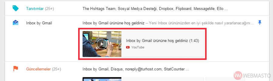Inbox- e-posta önizleme