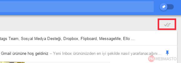 Inbox e-posta süpürme
