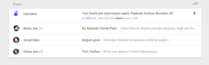Inbox hatırlatıcı ekleme
