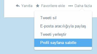 Twitter tweet sabitleme