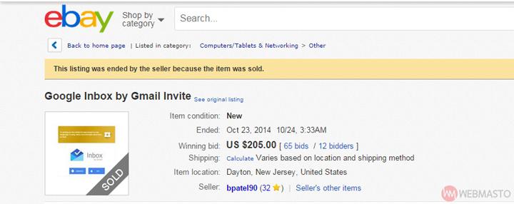Inbox davetiyesi - eBay