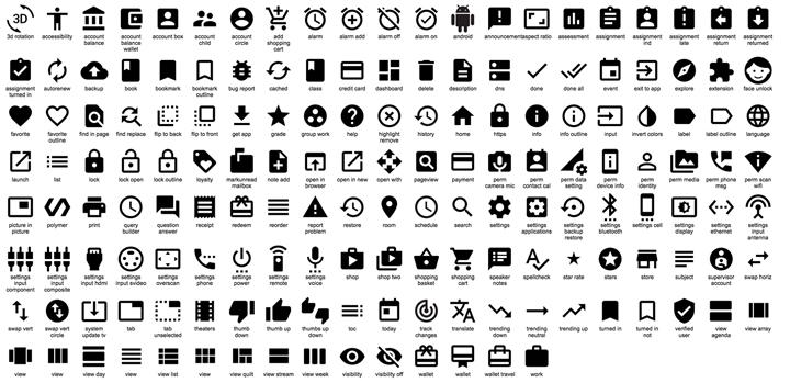 Material Design ikon paketi
