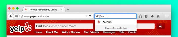 Firefox arama platformunu degistirme