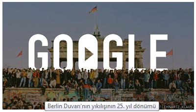 Google Berlin Duvarı doodle