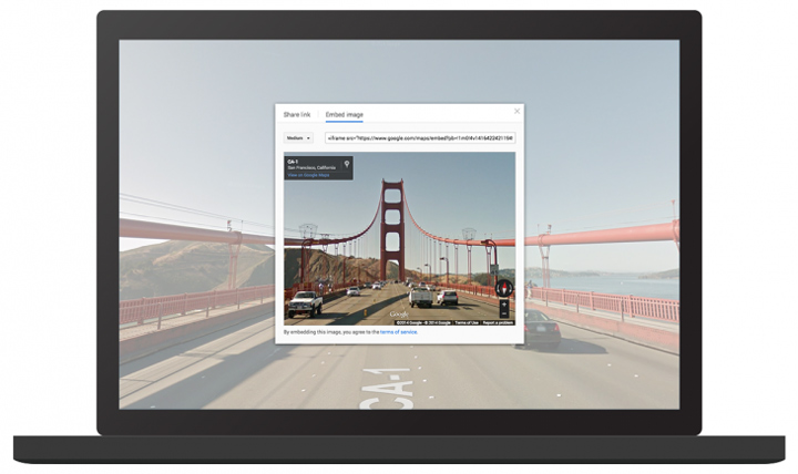 Google Maps Street View / Photo Sphere embed etme