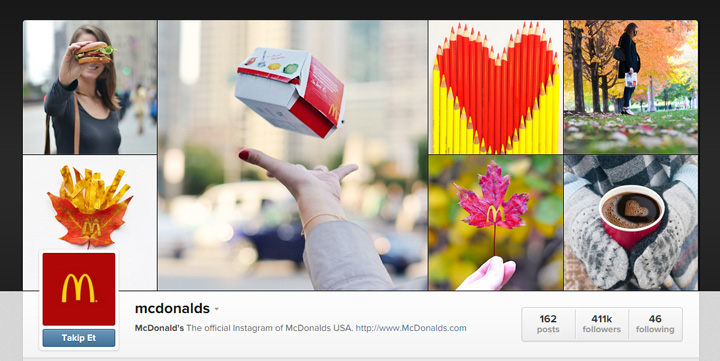 McDonald's Instagram