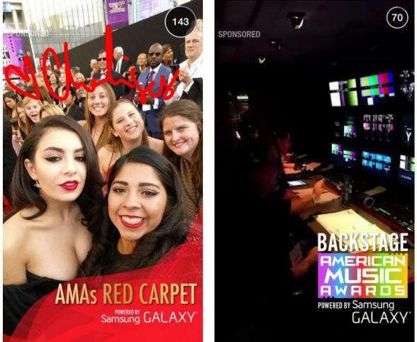 Snapchat - Sponsorlu Samsung Reklamı