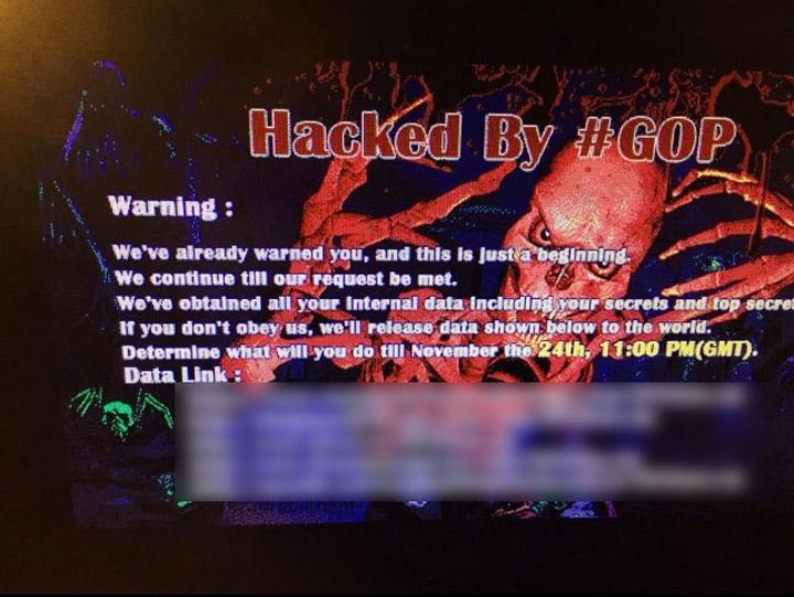 Sony hack saldırısı - #GOP (Kaynak: TNW)