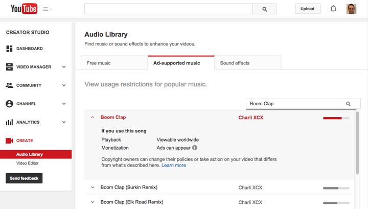 YouTube telif hakkına sahip müzikleri ekleme