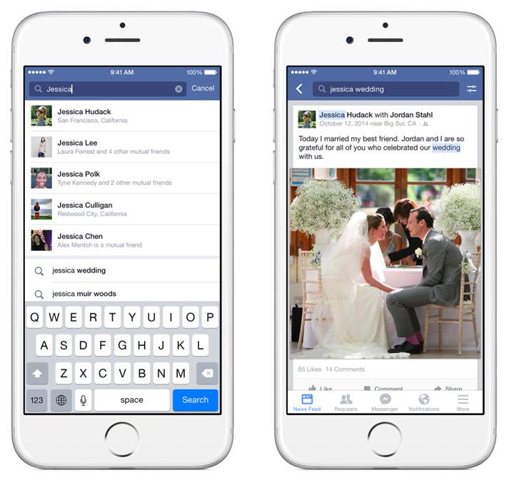 Facebook gönderi arama