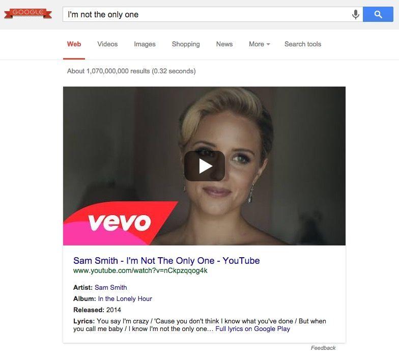 Google YouTube müzik videoları arama sonuçları