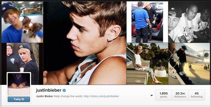 Justin Bieber 3.5 milyon takipçi düşüşüyle en fazla etkilenen ünlülerden oldu.