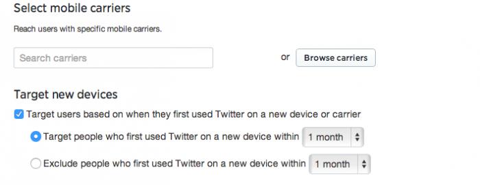 Twitter - Yeni telefon kullanıcılarını hedefleme