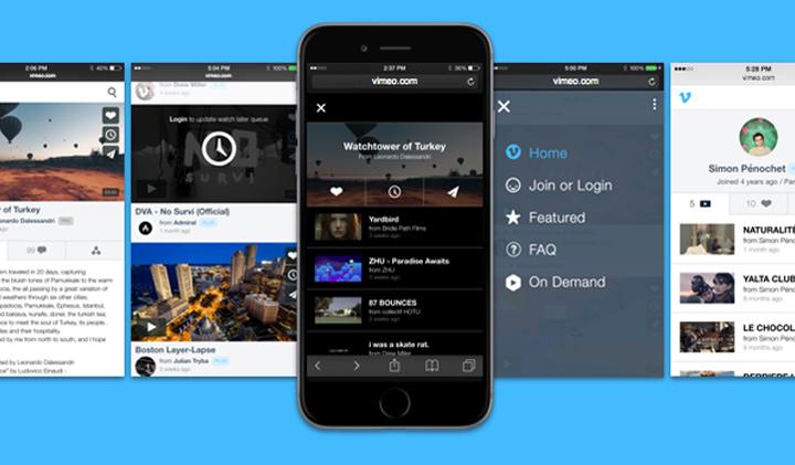 Vimeo mobil site