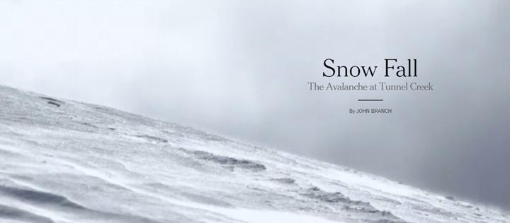 2015 web tasarım trendleri - Snow Fall
