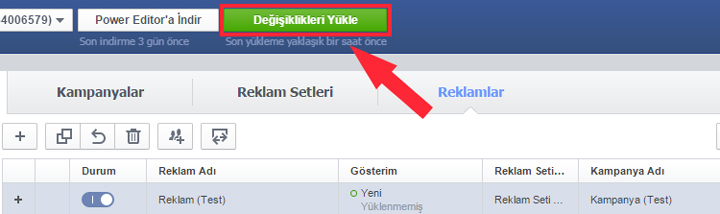 Facebook Dark Post reklam oluşturma 8