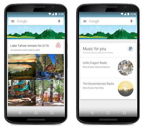 Google Now 3. parti uygulamalar