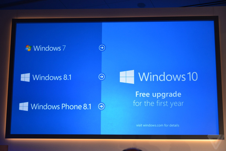 Windows 7 Windows 8.1 ve Windows Phone 8.1'den Windows 10'a geçişler 1 yıl ücretsiz