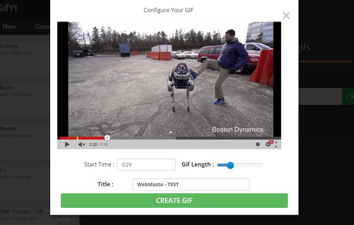 GIF YouTube - Düzenleme Alanı