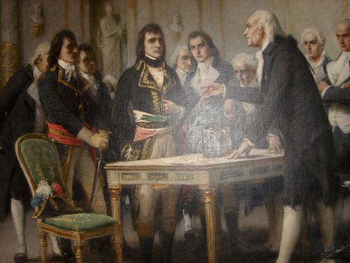 Alessandro Volta buluşunu Napolyon'a anlatırken (Giuseppe Bertini)