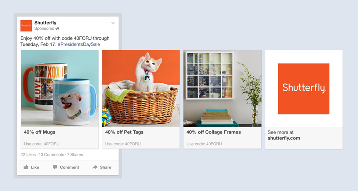 Facebook ürün reklamları