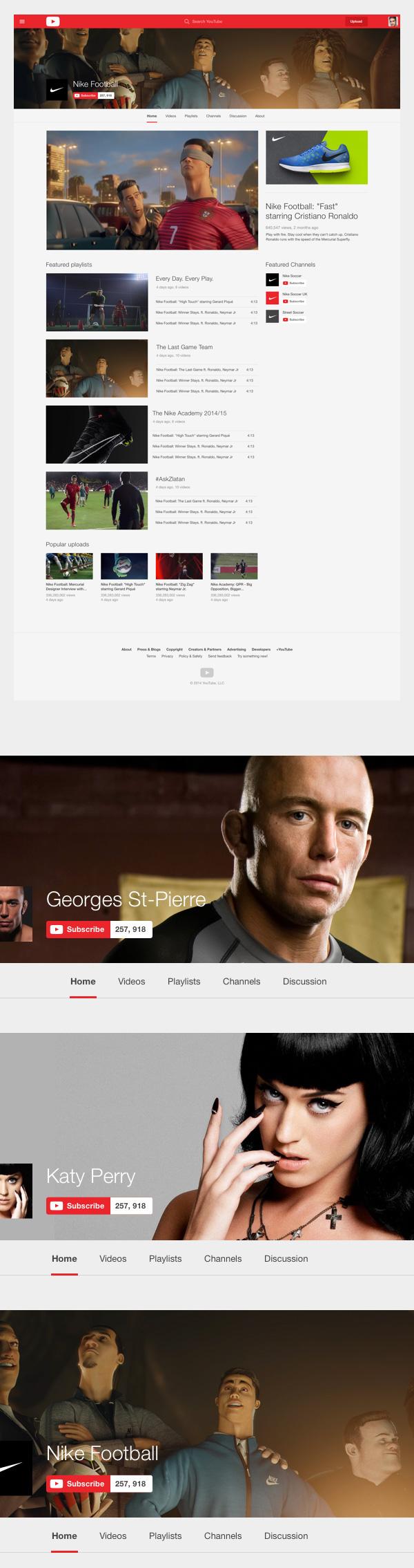 Youtube Redesign Concept - Kullanıcı sayfaları