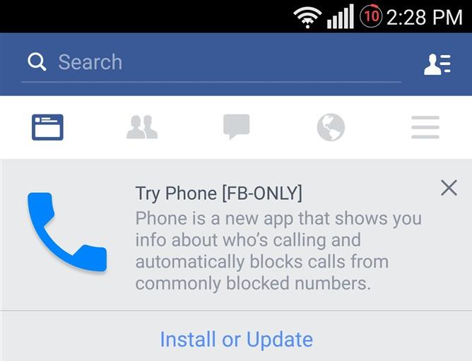 Facebook Phone ekran görüntüsü (Android Police)