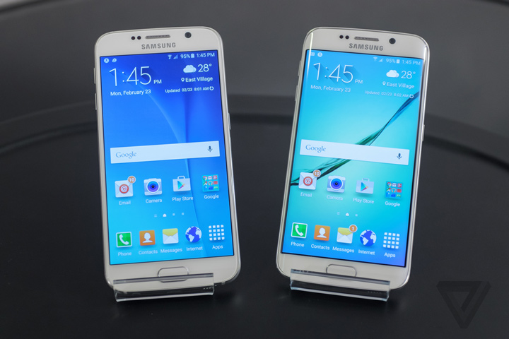 Galaxy S6 ve S6 Edge (Kaynak: The Verge)