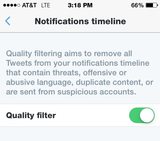 Twitter Kalite Filtresi (Quality Filter)