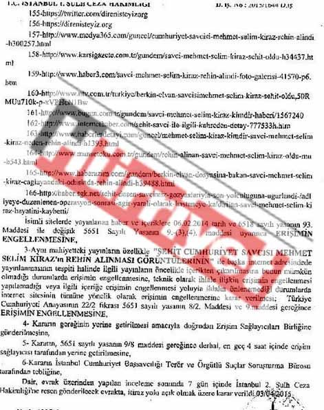 6 Nisan erişim yasağı kararı
