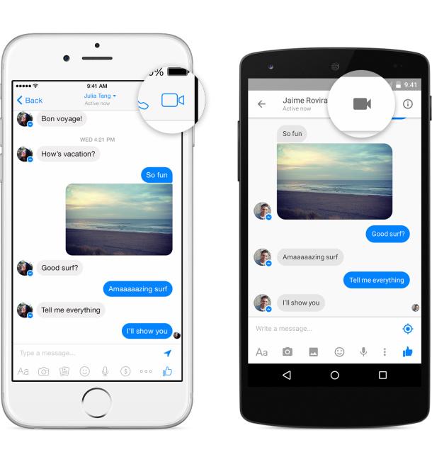 Facebook Messenger görüntülü arama