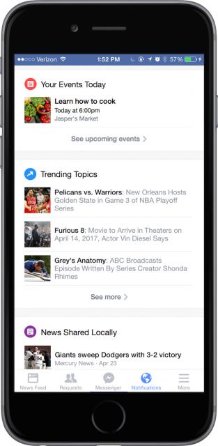 Facebook yeni bildirim sistemi