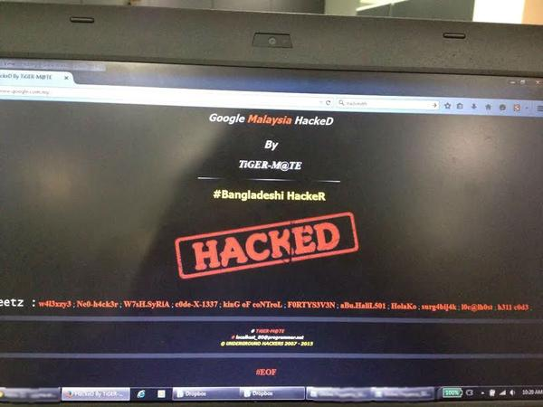 Google Malaysia Hacked by Tiger-Mate