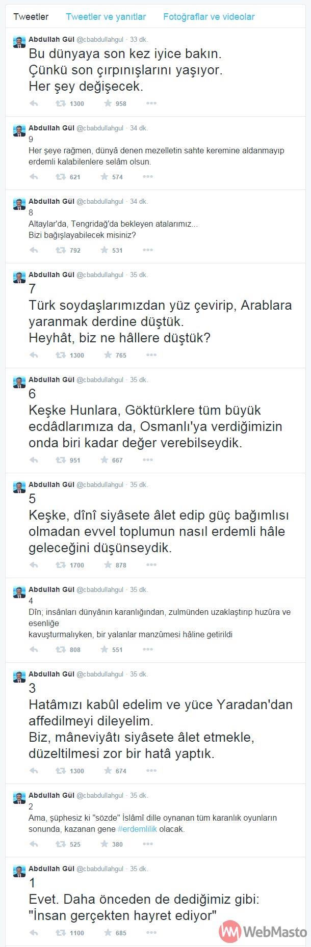 Abdullah Gül Twitter hesabı