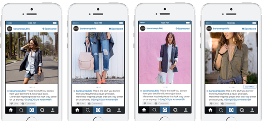 Banana Republic Instagram Carousel Ads