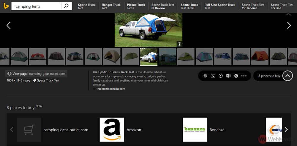 Bing görsel arama - Satın alma