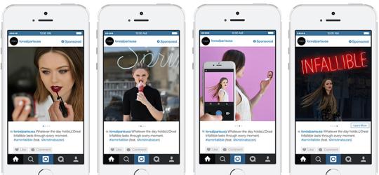 L'Oreal Paris Instagram Carousel Ads