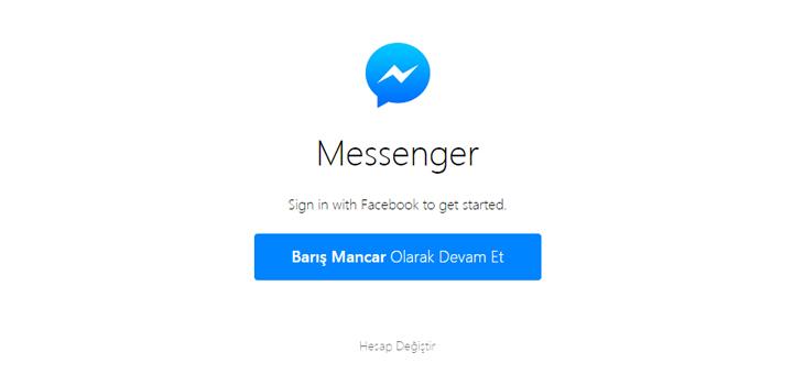 Messenger.com giriş
