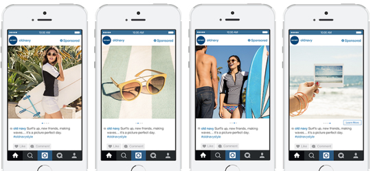 Old Navy Instagram Carousel Ads