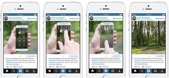 Samsung Instagram Carousel Ads