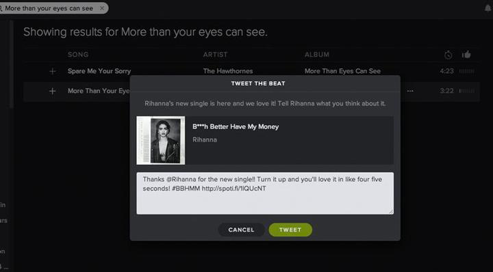 Spotify Tweet the Beat web